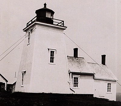 "Lighthouse on Whitehead Island as ""L'Île Rouge"""