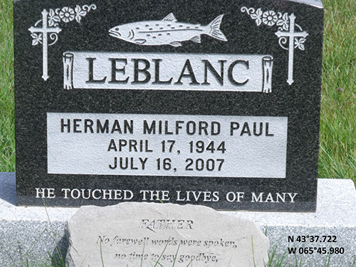 LeBlanc, Herman Milford Paul