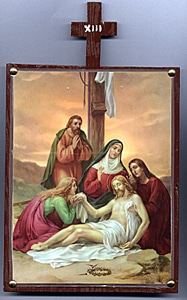 Thirteenth Station. Jesus is taken from the cross and laid in Mary's arms.